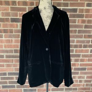 NWT GAP black velvet blazer jacket